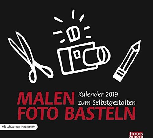 times&more Bastelkalender, schwarz - Kalender 2019 Kalender – 20. März 2018 Heye 3840160650 Basteln / Handarbeiten Basteln / Kalender