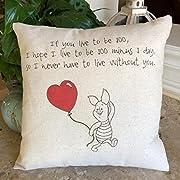 Winnie The Pooh Piglet Pillow Valentine 12x12 Inch