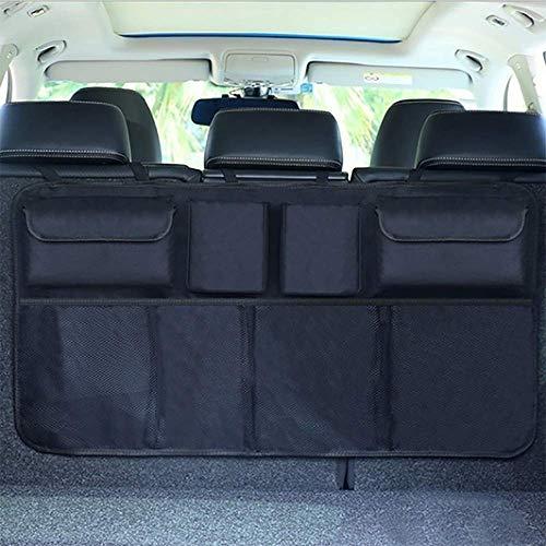 Sushiyi Backseat Trunk Car Organizer, Large Storage Packets Keep Your Truck Tidy and Organizer, Auto Hang Seat Back Storage Organizer Fit Many Vehicle & SUV