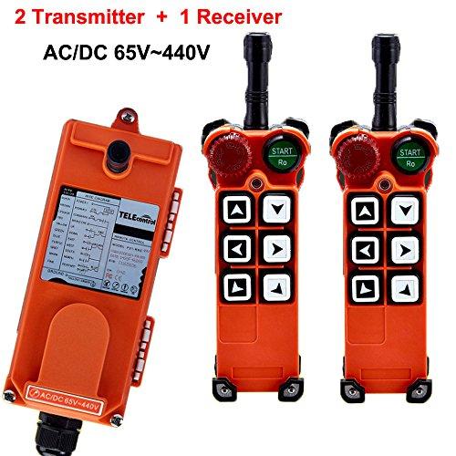 F21 Radio - Overhead Crane F21-E1 Wireless Industrial Radio Remote Control Transmitter & Receiver 6 Single Step Push Buttons (AC/DC 65V-440V)