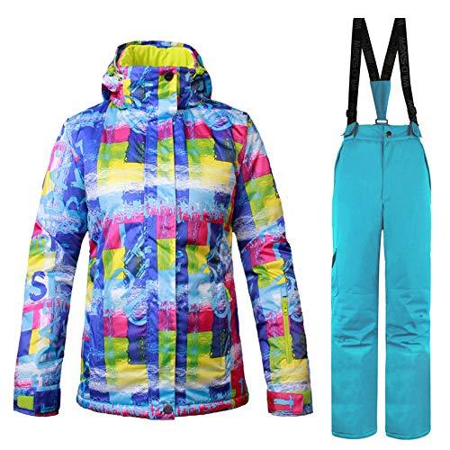 Épaisse Femme Ensemble 2 Neige 30 Snowboard Colro Veste Degrés Haonuan Pantalon De Et Wear Sauvage Chaud Femmes 2pcs Ski w4nB17