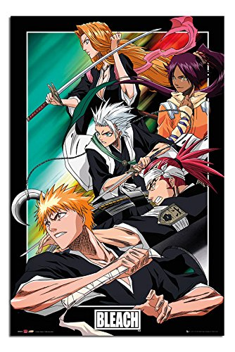 Bleach Manga Anime Group Poster Gloss Laminated