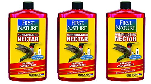 First Nature 3054 Red Hummingbird Nectar, 32-ounce Concentrate (3-Pack)