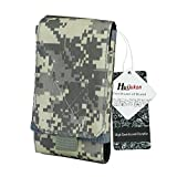 """Huijukon MOLLE Tactical Smartphone Pouch Military 1000D Nylon Hook Loop Belt Phone Holster Cover Case for 4.7"""" iPhone 7 iPhone 7 Plus 5.5"""" (ACU)"""