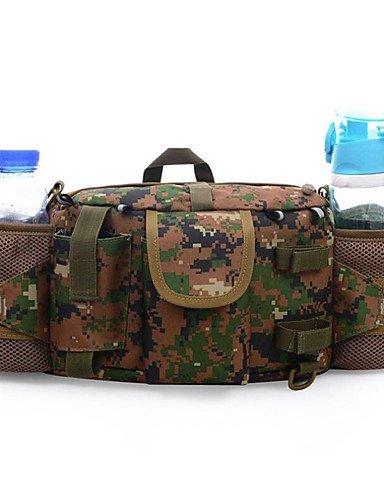 ZQ 5 L Hüfttaschen Camping & Wandern Draußen Wasserdicht / Multifunktions Armeegrün Nylon