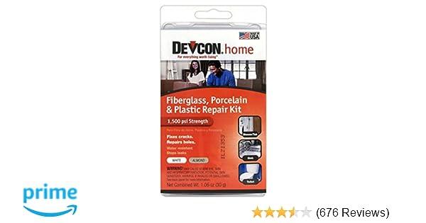Amazon.com: Devcon Epoxy Bathtub Repair Kit (Almond & White): Home ...