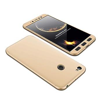 Funda Xiaomi Redmi Note 5A Prime/Y1 360°Caja Caso + Vidrio Templado,1stfeel 360 Grados Integral Para Ambas Caras + Cristal Templado Hard Skin Carcasa ...