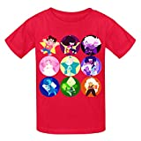 Toypop Steven Universe Kids Cotton O T-shirt Customized Red