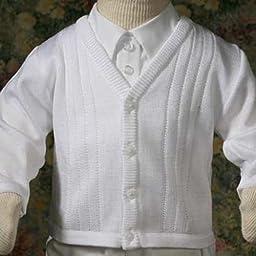 Everett Acrylic Sweater, white, 18 months