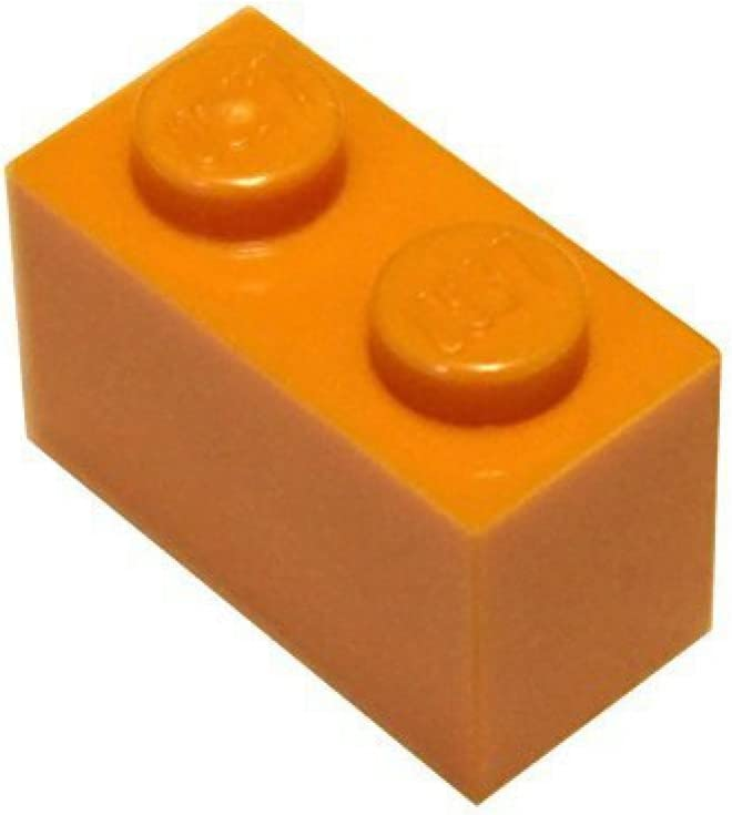 LEGO Parts and Pieces: Orange (Bright Orange) 1x2 Brick x20
