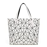 Vintage Women-Bag Style Geometry Irregular Triangle Bag Shoulder Bag Brand Logo Inside Casual Tote