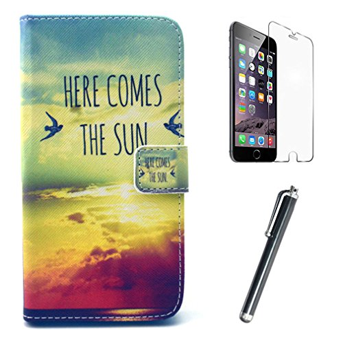 """For Wiko Lenny 5.0 """" , Sky Clouds Design [Magnetic Wallet] PU Leather [Stand View] Flip Case Skin Protective Cover for Wiko Lenny 5.0 """" + Screen Protector + Touch Stylus"""