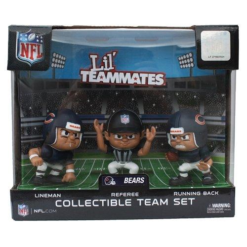 Lil' Teammates 3 Figurine Chicago Bears NFL Team Set (Pack of 3)