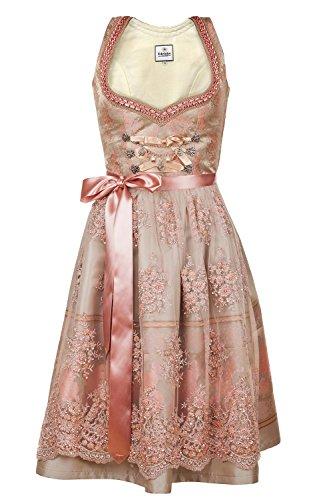 Edelnice Trachtenmode Bavarian Women's Designer Midi Dirndl Rosalie Dress 2-Pieces + Apron Size US2-US22 (36 (US6)) by Edelnice Trachtenmode