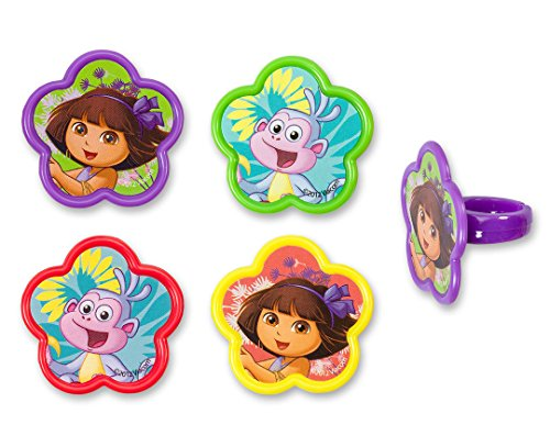 Dora And Friends Cake (CakePicke cake cupcake topper Dora & Boots Springtime Friends Cupcake Rings - 12)