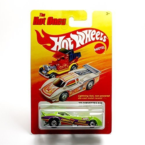 2011 Release of The 80s Classic Series Hot Wheels The Hot Ones 77 Corvette F//C 1:64 Scale Throw Back Die-Cast Vehicle Mattel W3797 Green