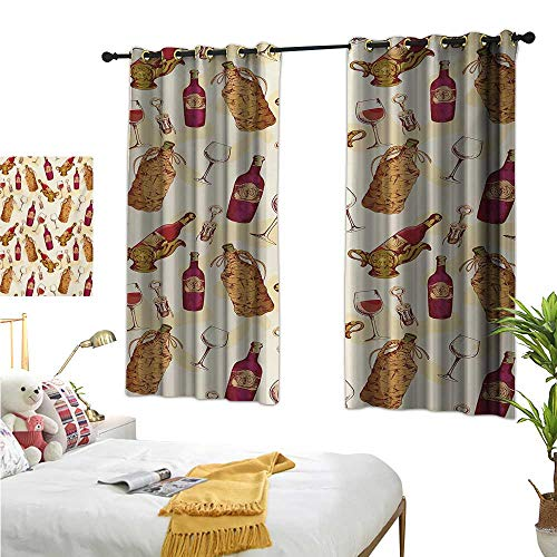 Superlucky Decorative Curtains for Living Room,Winery,63