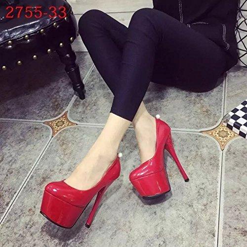 De fino cm alto tacon tacon 16 Zapatos de de gules 08Zwqxna