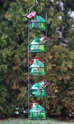 Parasol Lunch Pail Hummingbird Feeder, Tall, Green, 17.5 oz.