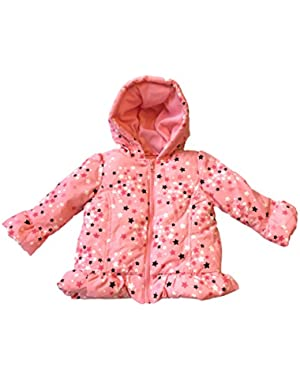 Star of the Show Puffer Coat Hooded 12-24 Months Pink