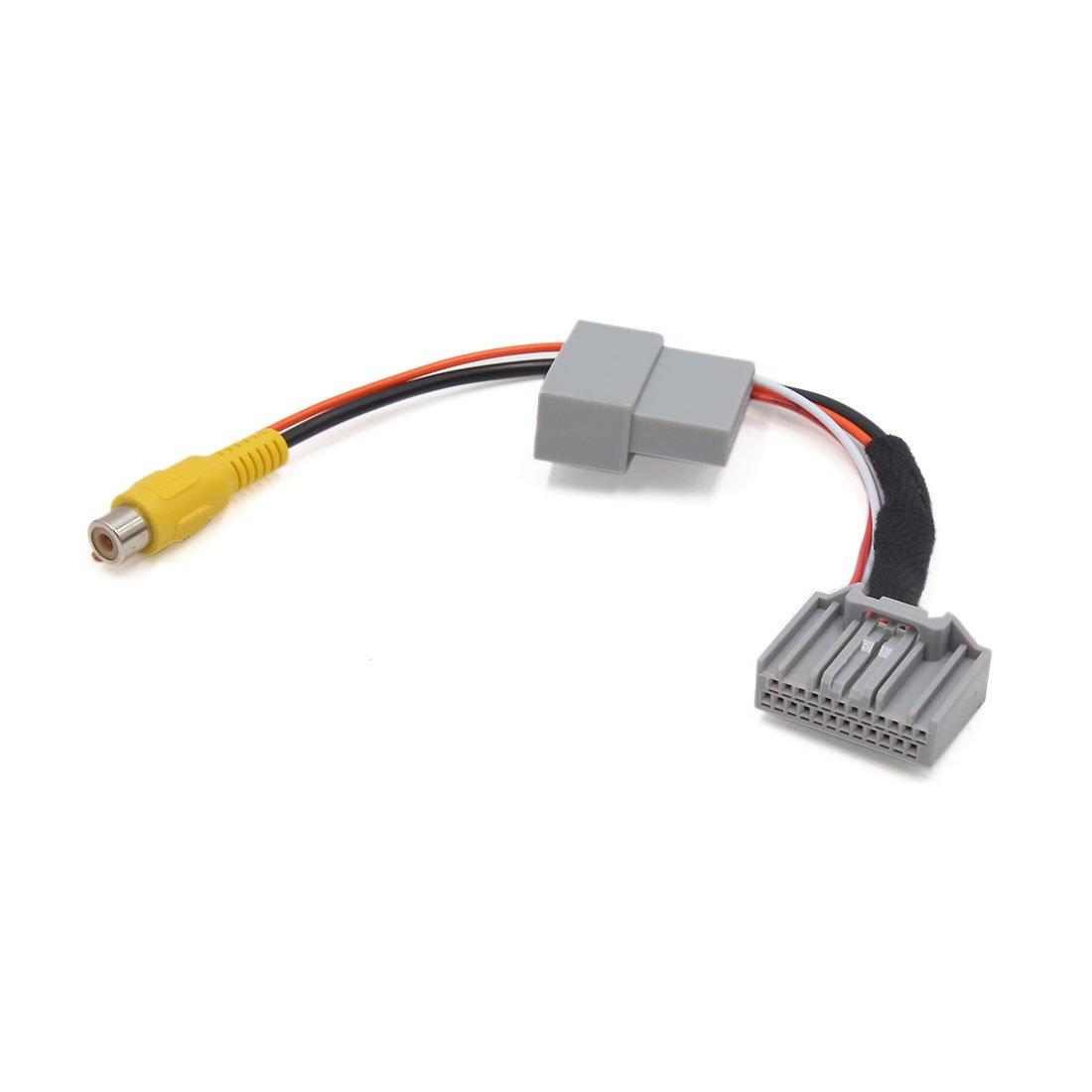 sourcing map Adaptador Cable de C/ámara Navegaci/ón Reversa Parking para Veh/ículo Accord 2,4