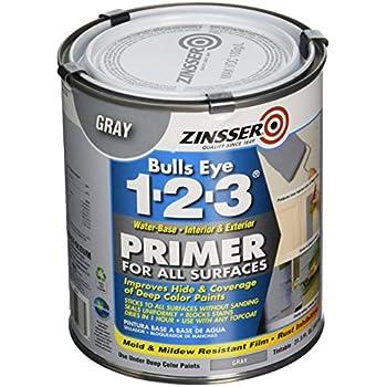 Rust-Oleum 286258 Zinsser Bulls Eye 1-2-3 Primer, 31.5 oz, Gray