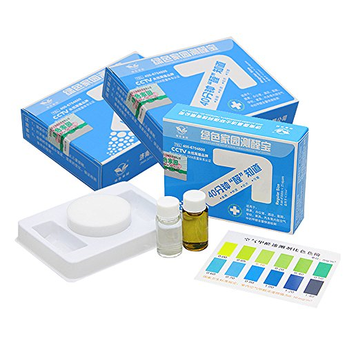 4th Generation Formaldehyde Air Rapid Test Kit/Indoor Air DIY Testing Accessories Kit