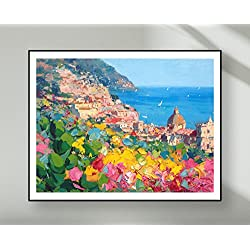 Positano Prints Italian Poster Coastal Amalfi Art Canvas