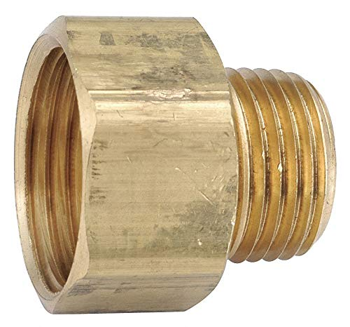 Low Lead Brass Female Adapter, 3/4'' FGH x 1/2-14 MNPT Connection - pack of 5