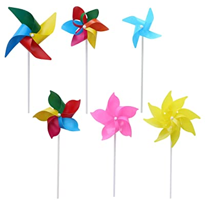 Abicial 10 Set Windmill Pinwheel Wind Spinner Garden Yard Art Decoration Outdoor Toys DIY: Arts, Crafts & Sewing