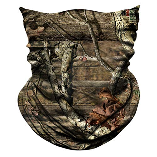 AXBXCX 2 Pack - Camouflage Print Seamless Neck Gaiter Bandana Face Shield Mask Headband Headwear Sweatband Wristband Scarf for Fishing Hiking Hunting Cycling Motorcycle Riding Skiing Outdoor Sport 053