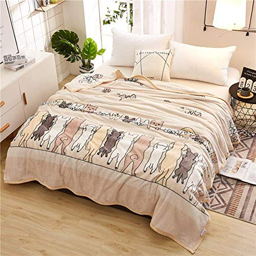 (Smibra Floral Blankets Kids/Adults/Pets Cozy&Warm Blankets Beautiful Pattern Bedding Throw Plush Couch Blankets for All Seasons-002(W60 x L78 Inch, Brown))