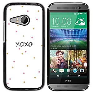 For HTC ONE MINI 2 / M8 MINI , S-type® Kisses Love Valentines Polka Dot - Arte & diseño plástico duro Fundas Cover Cubre Hard Case Cover