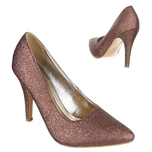 Ital-Design - Zapatillas de casa Mujer Marrón - marrón
