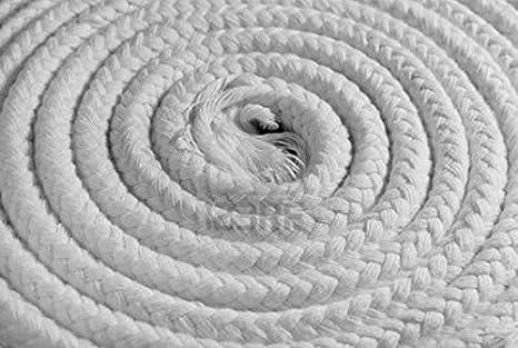 Junta cordón para estufas de leña Pellets larga 2.5 mt diámetro 8 mm df700284: Amazon.es: Hogar