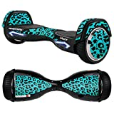MightySkins Skin For Razor Hovertrax 2.0 Hover Board - Teal Leopard | Protective, Durable, and Unique Vinyl Decal wrap cover | Easy To Apply, Remove, and Change Styles | Made in the USA