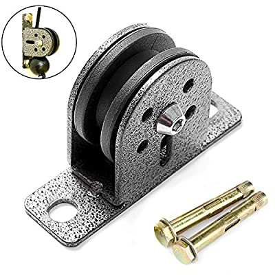 Wg -Fitness Fitness Stainless Steel Bearing Pulley Load for Lifting Workout DIY Equipment Gym Cable Silent Wheel Home Gym Sport Accessories (Color : 2.5m Rope with Hook): Home & Kitchen