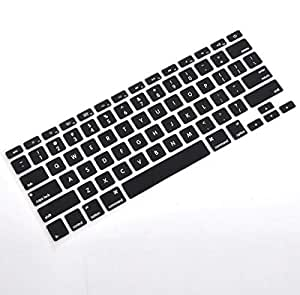 Silicone Keyboard Keypad Black Cover Protector For Apple macbook 13, 15 and 17 inch