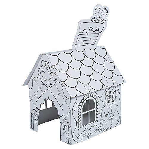 Color Your Own Gingerbread Playhouse