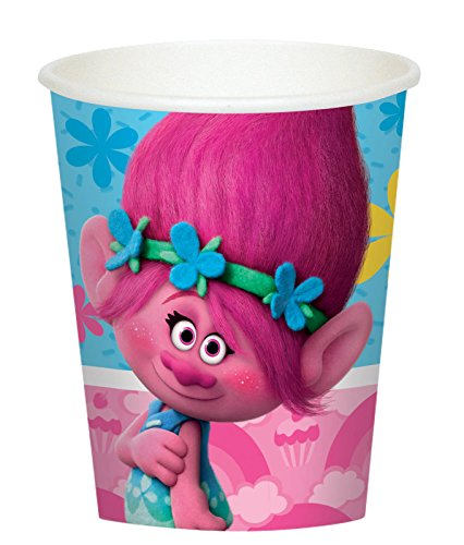 Amscan Trolls Fairytale Colorful Poppy Party 9oz Paper Cups Pack (16) ()