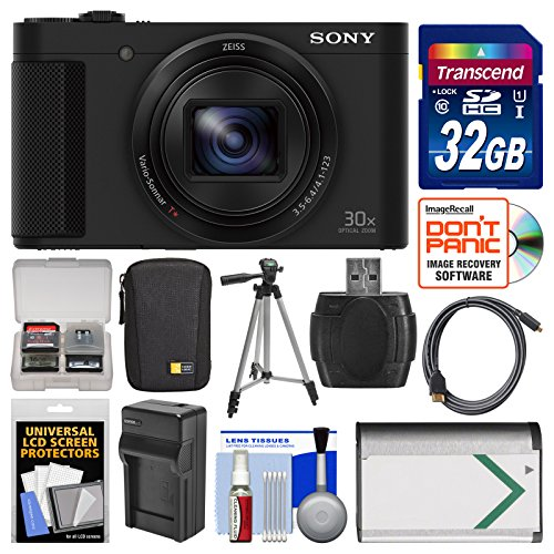 Sony Cyber-Shot DSC-HX80 Wi-Fi Digital Camera with 32GB Card + Case + Battery & Charger + Tripod + Kit by Sony