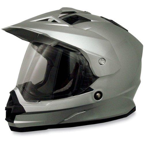 AFX FX-39 Unisex-Adult Full-Face-Helmet-Style Dual Sport Helmet (Silver, Large)