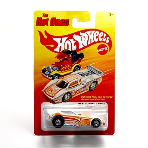 ('77 PLYMOUTH ARROW (WHITE) * The Hot Ones * 2011 Release of the 80's Classic Series - 1:64 Scale Throw Back HOT WHEELS Die-Cast Vehicle)
