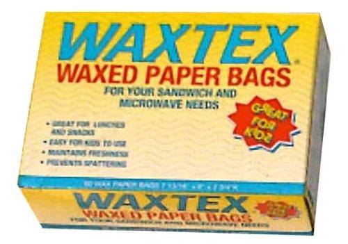 WAXTEX Wax Paper Sandwich Bags, 60 ea