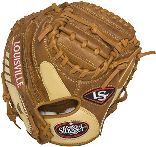 Louisville Slugger Omaha Pure Catcher's Mitt, Brown, Right Hand Throw