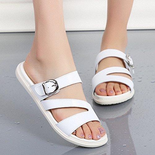 Pantofole YTTY di Moda Semplici in bufalo da Donna Abbinate All'Abbigliamento Comode pelle Tutte Sandali Pelle pgqAqwI