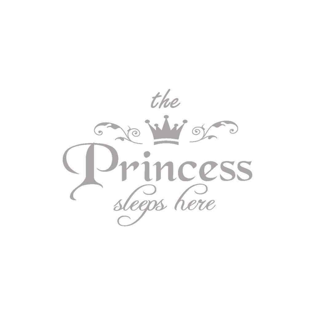 Honestyivan Alphabet Princess Crown Wall Sticker Girl Bedroom Nursery Living Room Wall Decal Removable Home Decor