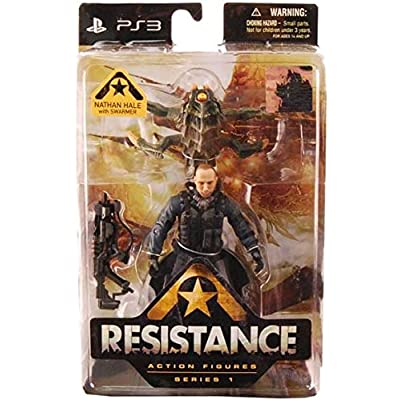 DC Comics Resistance Series 1: Nathan Hale with Swarmer Action Figure: Toys & Games