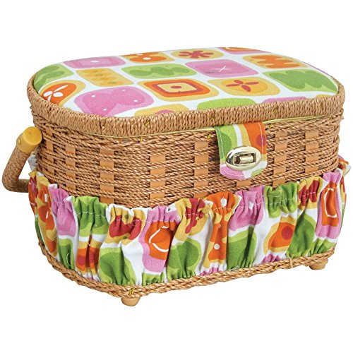Price comparison product image LIL SEW & SEW FS-095 Sewing Basket with 41-Piece Sewing Kit electronic consumer