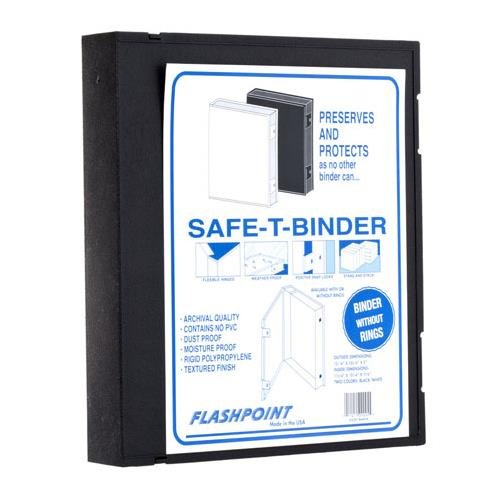 Flashpoint Adorama Plastic Storage Binder Box Without Rings, 9x11, Color: Black